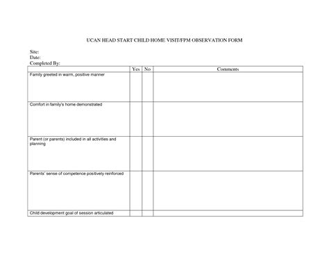 child physical form 7 best images of head start forms printable school