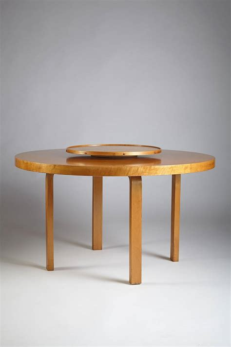 alvar aalto dining table dining table with carousel designed by alvar aalto for
