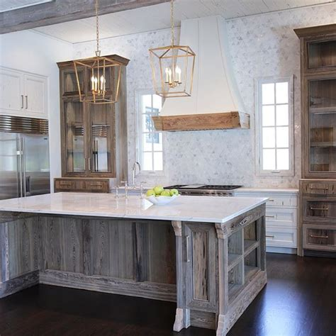 distressed white kitchen island step into this beautifully rustic cottage kitchen 6794