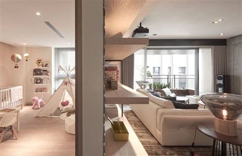 Trendy Space Naturally Combine The Soft Textures, Warm