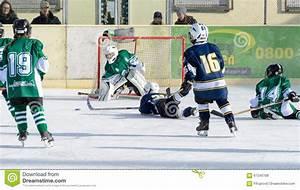 German Kids Playing Ice Hockey Editorial Stock Photo ...