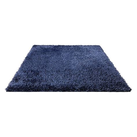tapis cool bleu shaggy esprit home 90x160