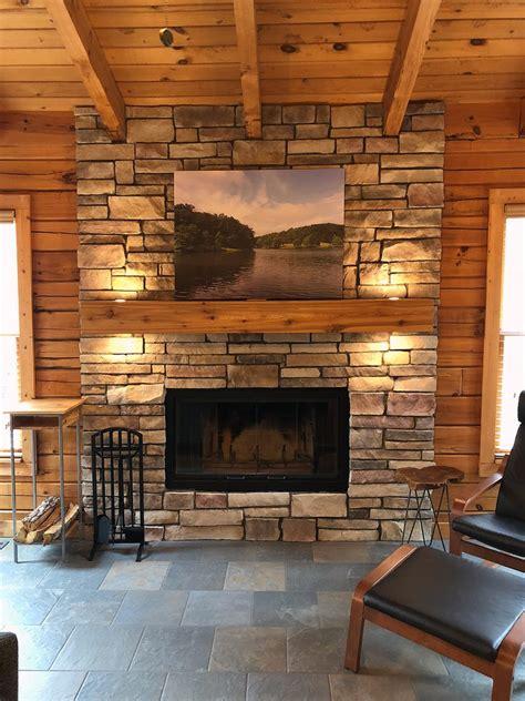 diy stone veneer fireplace project north star stone