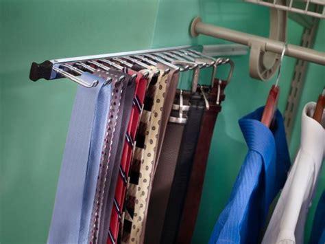 Belt Holder For Closet by Closet Tie Racks Hgtv