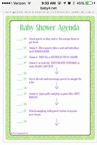 Baby shower itinerary baby pinterest for Bridal shower itinerary template