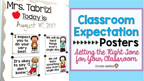 Classroom Expectation Posters Setting The Right Tone For Your Classro Createabilities