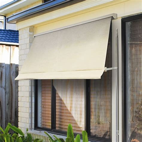 guest room window bunnings  windoware    safari fixed arm outdoor awning blind