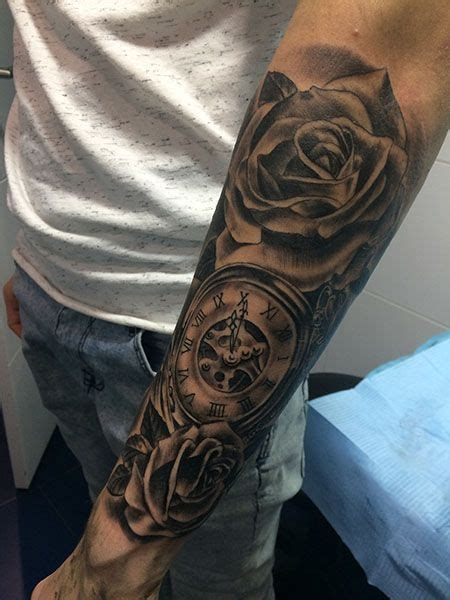 awesome rose clock tattoos  men awesome tattoos clock tattoo design tattoos clock