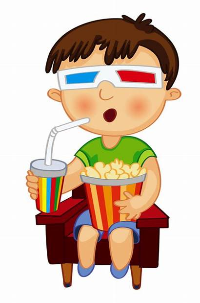 Clip Movie Watching Kid Cleaning Clock Clipart