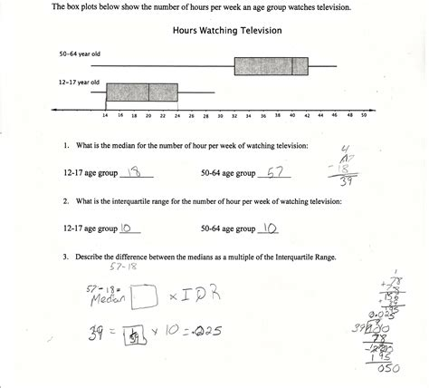 Uncategorized Interquartile Range Worksheet Waytoohuman Free Worksheets For Kids & Printables