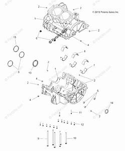 Polaris Atv 2017 Oem Parts Diagram For Engine  Crankcase