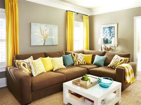 yellow and brown living room peenmedia com