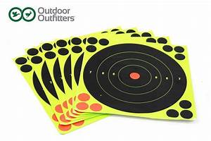 outdoor outfitters 8 quot high viz impact sticking targets 6