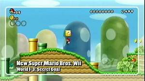 New Super Mario Bros Wii Walkthrough World 1 3 Secret
