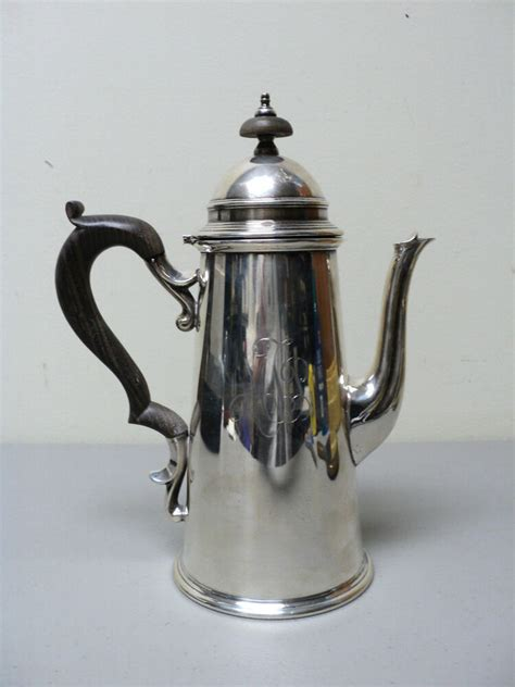 rare  clighthouse form sterling silver coffee pot ebonized wood handle ebay