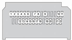 Toyota Yaris Mk2  2008  - Fuse Box Diagram