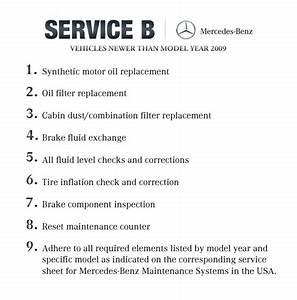 Mercedes Benz Service B Checklist