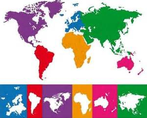 World Map with Continent Borders