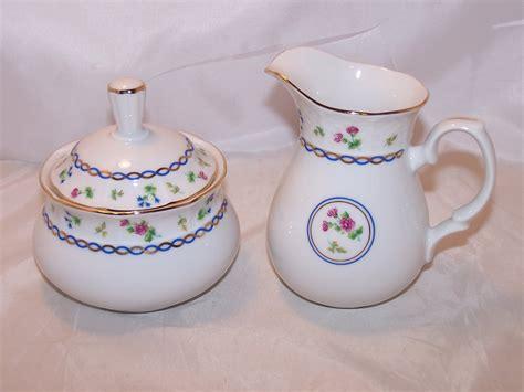 baum bros thun porcelain creamer  sugar czechoslovakia