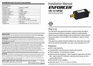Enforcer Video Ground Loop Isolator Vg