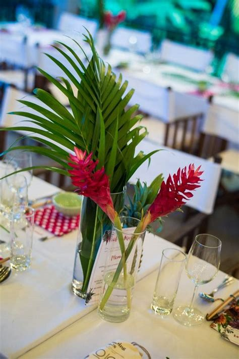 tropical wedding centerpieces youll love