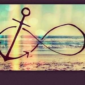 #beach #anchor #infinity #sign #infinitysign #waves # ...