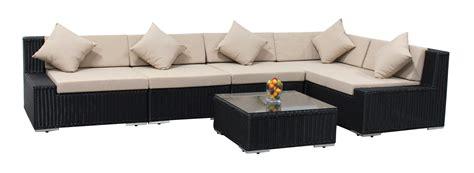 patio furniture wicker 6pc sectional sofa set