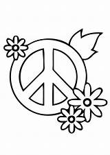 Coloring Peace Pages Sign Hand Printable Dove Heart Adults Drawing Simple Getcolorings Getdrawings Print sketch template