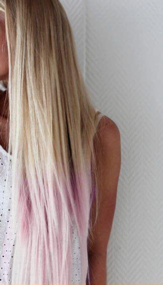 Colorful Tips Dip Dyed Hair Puntas De Pelo Teñidas