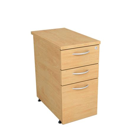 Narrow Under Desk Pedestal 3 Drawer