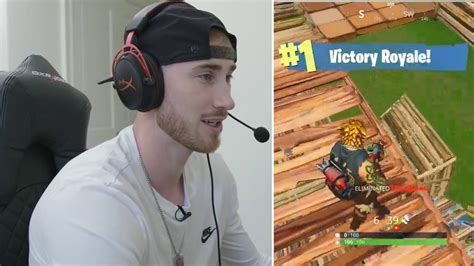 nba star gordon hayward celebrates  victory royale