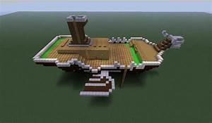 Golden Sun Lemurian Ship Minecraft Project