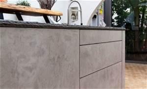 Küche Beton Arbeitsplatte : leicht k che mit grauwacke arbeitsplatte und k chenfronten in beton optik k chenhaus thiemann ~ Frokenaadalensverden.com Haus und Dekorationen