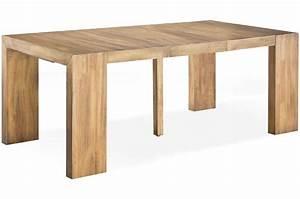 Table Extensible Bois Massif : table console extensible en bois massif cappucino ~ Teatrodelosmanantiales.com Idées de Décoration