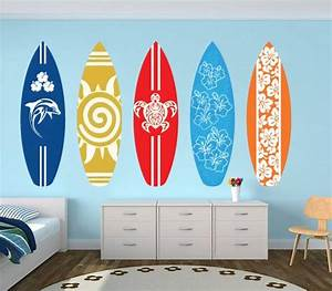 SurfBoards Wall Art Decal Pack for Housewares