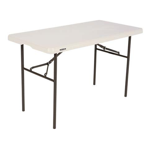 lifetime 4 ft table lifetime 4ft standard blow mould trestle table bunnings