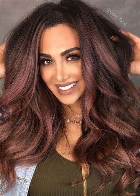dark hair colors black brown red dark blonde