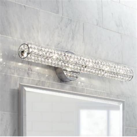 vienna full spectrum crystal bar   wide bath fixture