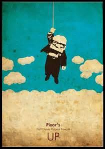 minimalist pixars disney  poster   cutejungle