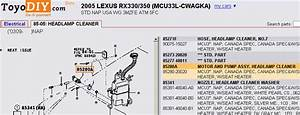 Headlight Washer Pump - 99 - 03 Lexus Rx300