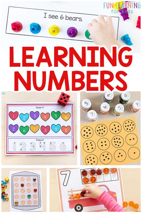learning numbers with on number activities 297 | Learning Numbers with Number Activities Pin