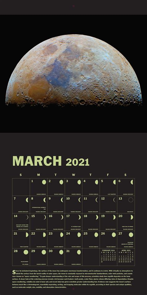 lunar  wall calendar book summary video official publisher page simon schuster