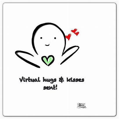 Virtual Hug Hugs Kisses Meme Sending Kiss