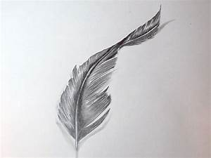 How To Draw A Feather - YouTube