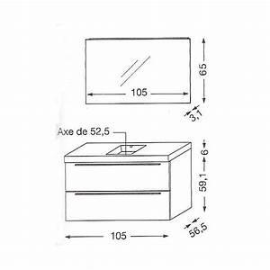 hauteur meuble salle de bain suspendu chaioscom With meuble salle de bain hauteur 60 cm