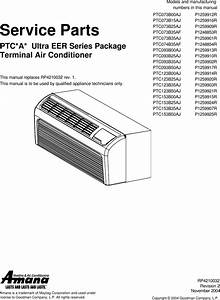 Amana Air Conditioner Rp4210032 Users Manual Rpt Parts Cover