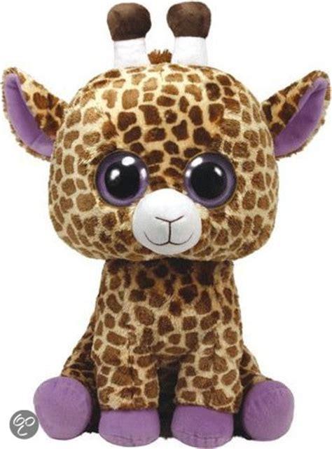 bolcom pluche ty beanie giraffe safari  cm