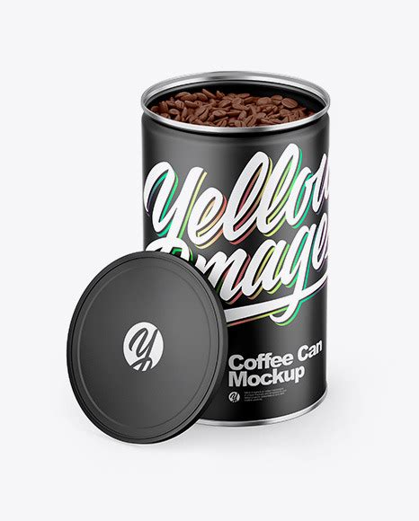12,000+ vectors, stock photos & psd files. Matte Coffee Can Mockup in Can Mockups on Yellow Images ...
