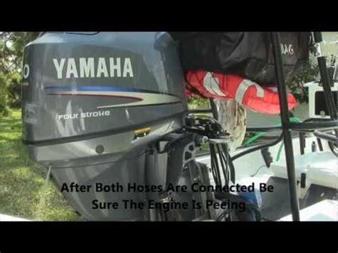 Flushing Boat Engine After Salt Water by Flushing Yamaha Outboard Boat Engine
