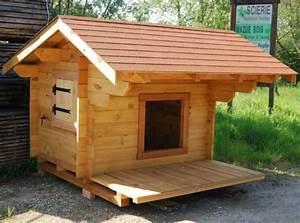Niche Pour Chien Avec Terrasse : niche pour gros chiens en bois fabricant ~ Dailycaller-alerts.com Idées de Décoration